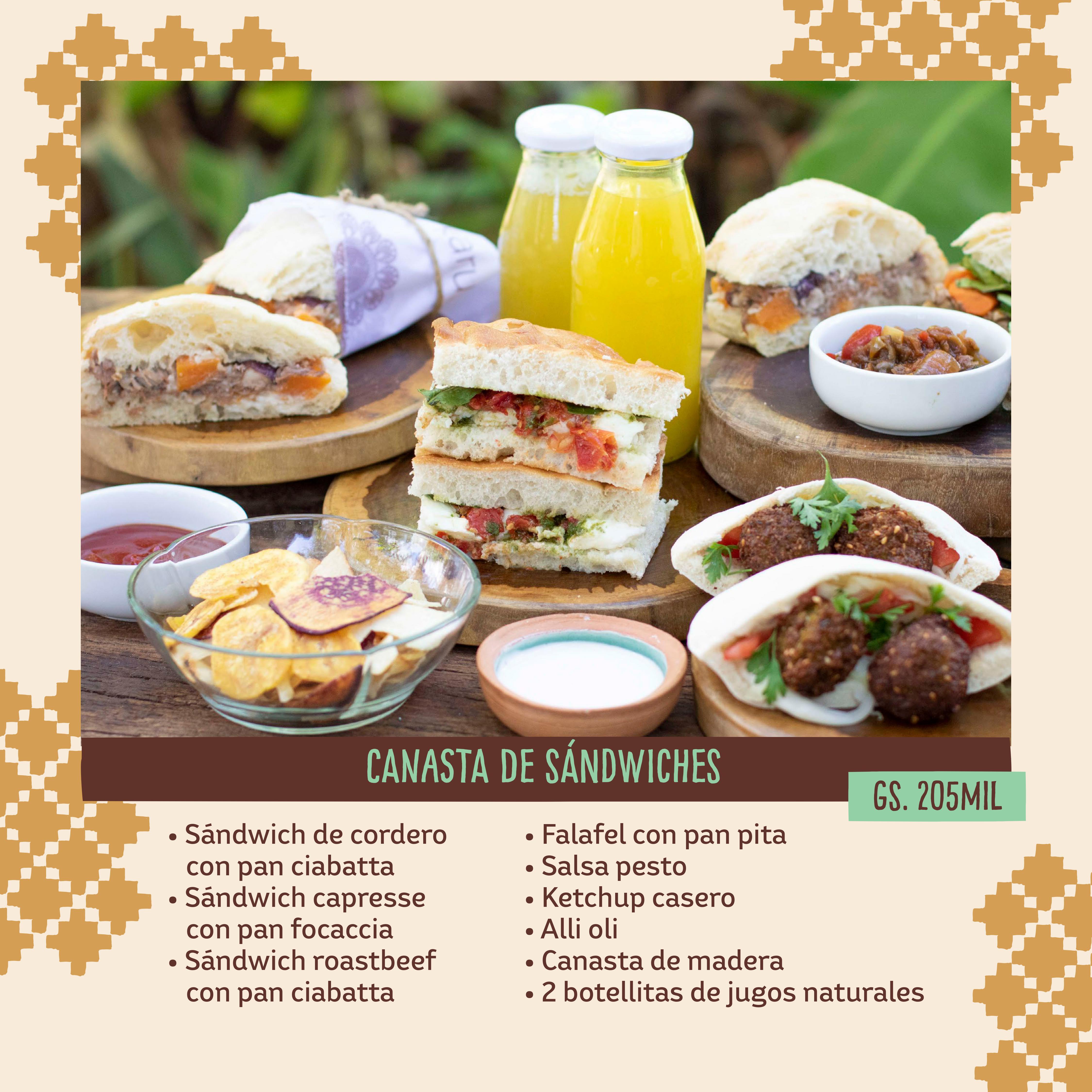CANASTA DE SANDWICHES